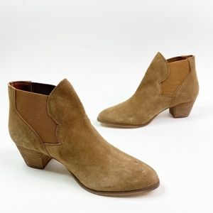 Coolway Brown Vegan Suede Ankle Booties